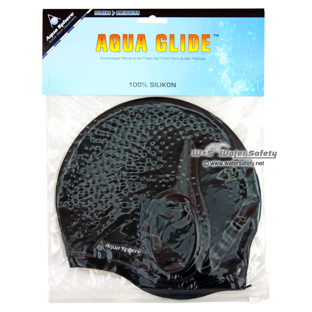 aquasphere schwimmkappe silikon aqua glide schwarz. Black Bedroom Furniture Sets. Home Design Ideas
