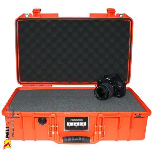 1525 AIR Case, PNP Latches, With Foam, Orange
