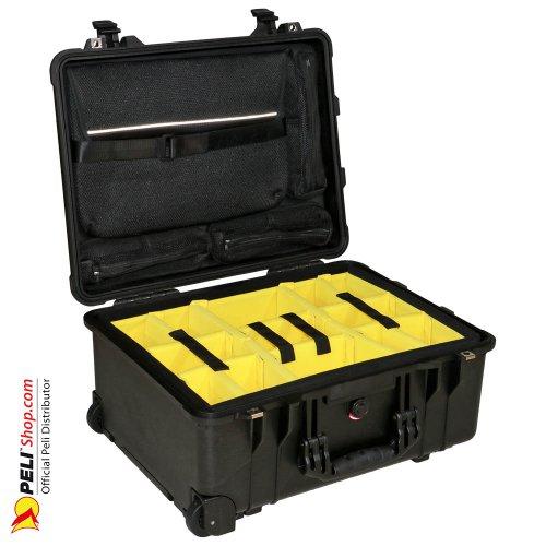 1560SC Studio Case W/Dividers/Yellow, Black
